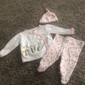 Gerber Newborn Made With Love Outfit With Hat